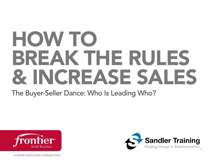 Złam zasady i zwiększ sprzedaż