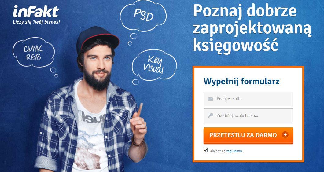 Przykład kampanii reklamowej promującej internetowe usługi księgowe